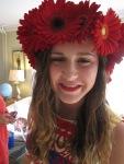 Fresh Flower Gerbera Daisy Headband for Emma's 8th grade graduation
